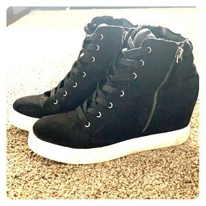 steve madden lynn high-top wedge sneakers